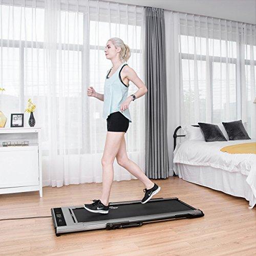 Goplus Treadmill Desk: G Electric Smart Treadmill Intelligent Speed Control Slim