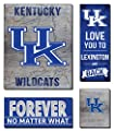 "KH Sports Fan 27""x23"" Kentucky Wildcats Road to Victory 4 Pc Canvas Set 4"