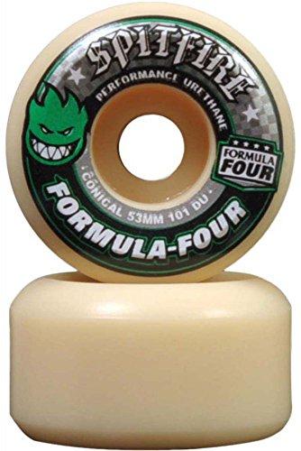 (Spitfire F4 Conical Wheels Set Green Print 53mm/101d)