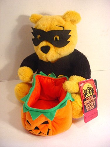 Disney Store Talking Winnie the Pooh Plush Halloween Candy Bowl]()