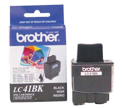 NEW Brother OEM Ink LC41BK (BLACK) (1 Cartridge) (Inkjet Supplies)