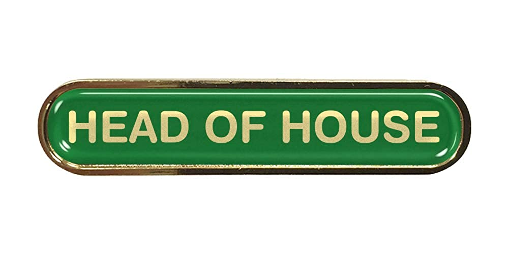 Head of House Green School Bar Badge