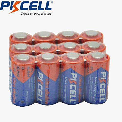 6V Batteries 4LR44 Alkaline Battery 476A L1325 PX28A for Dog Collar 12PCS