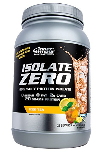 Inner Armour Isolate Zero All Natural Iced Tea Flavor | 100% Whey Protein Isolate| Organic Protein Powder| Pre Workout Powder for Men & Women | All Natural Powder Protein - 1.7 Pounds (Berry Whey)