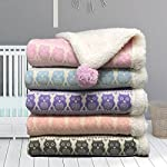 effe-bebe-Snow-Owl-Cotton-Knit-Sherpa-Baby-Blanket-30×40-Light-Purple