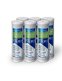 6 Bloque de carbón activado Set de 5 micrones de Filtros de agua