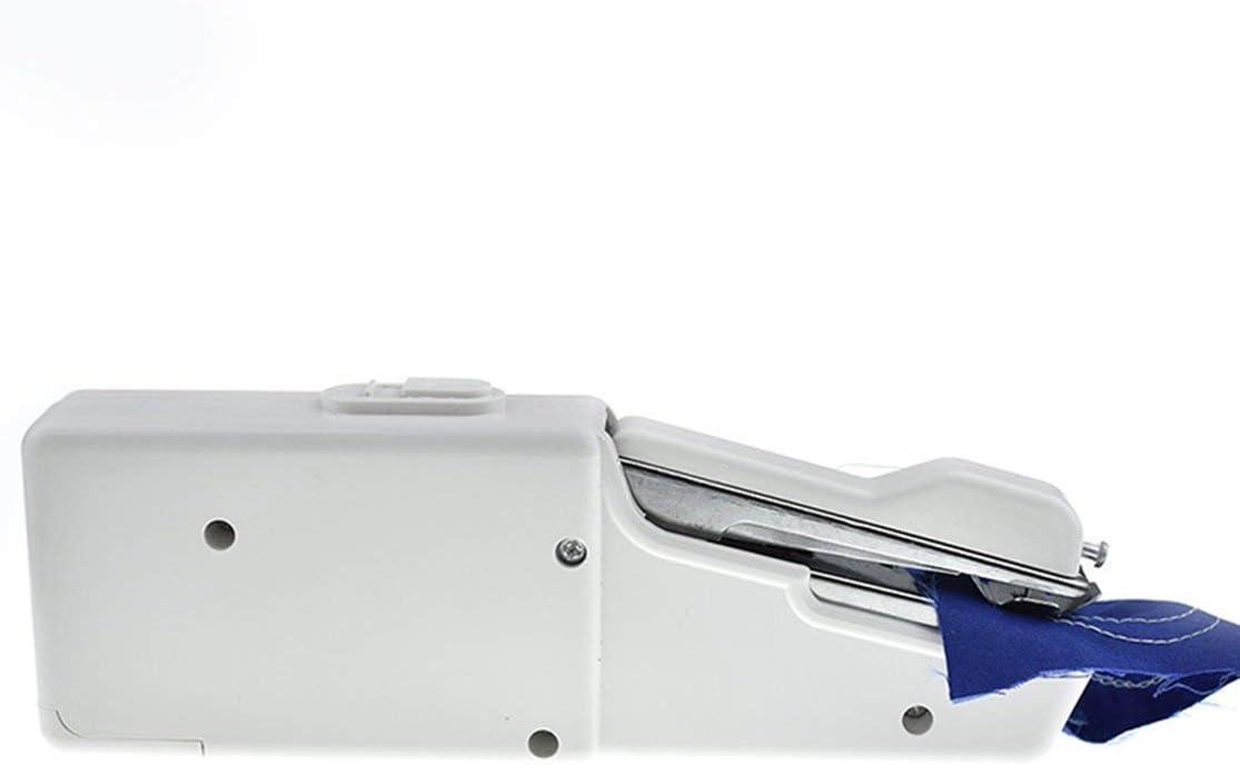 zhouweiwei Mini portátil portátil máquina de Coser eléctrica con batería práctica Costura Costura Ropa Herramienta de Costura para Uso doméstico de Viaje