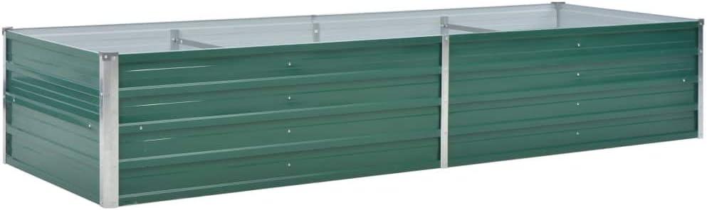 mewmewcat Metall Hochbeet Gartenbeet Pflanzk/übel f/ür Terrasse Balkon 240x80x45 cm Gr/ün