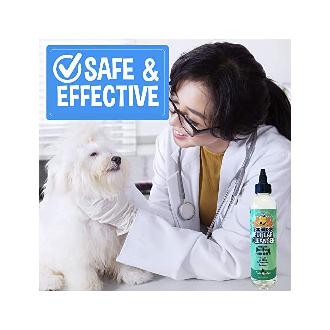 New All Natural Pet Ear Cleaner For Dogs And Cats Eucalyptus Aloe Vera Cleaning Treatment For Ear Mites Yeast Infection Fungus Odor Gentle Solution Cleanser For Ears