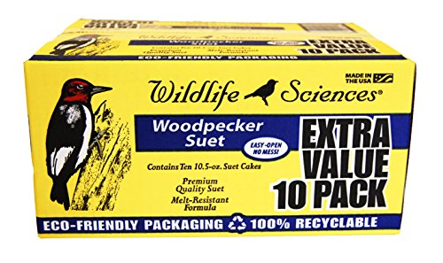 Wildlife Sciences Woodpecker Suet 10 Pack (Wildlife Feed)