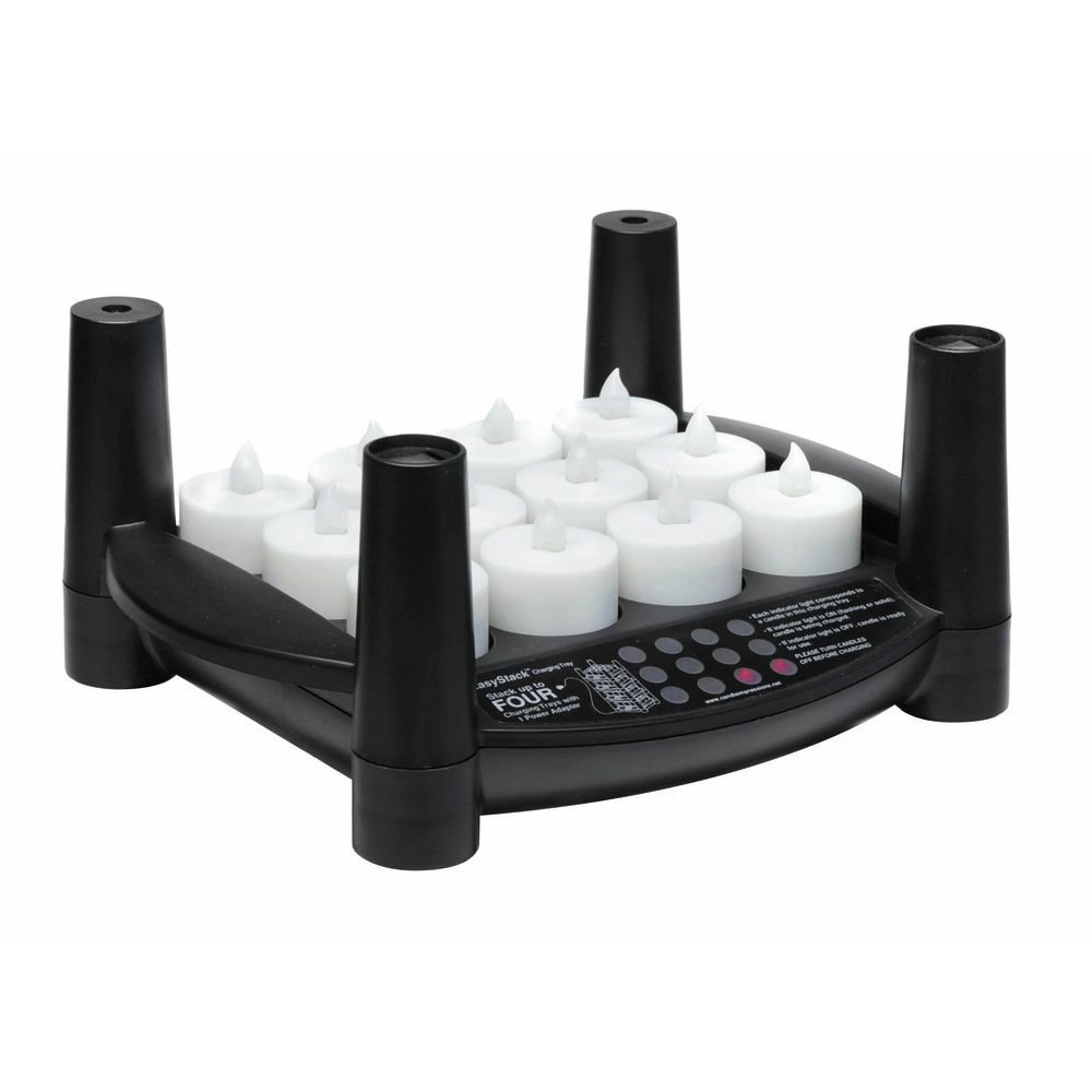 Candle Impressions Easy Stack Charging Tray and Rechargeable Tealight Candle Set by CANDLE IMPRESSIONS (NORTHERN INT.)