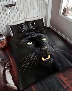 Set Gaveno Cavailia colección prémium 3D, funda nórdica y funda de almohada con diseño de pantera, negro, matrimonio