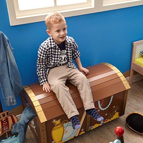 FANTASY FIELDS Coffre à jouets enfant Pirate Island bois