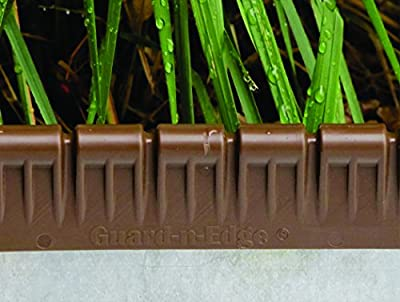 Brown Guard-n-Edge Protective Cover for Metal Lawn Edging | Includes 30 Feet of Protective Edging Cover | Safe And Decorative Landscape Edging