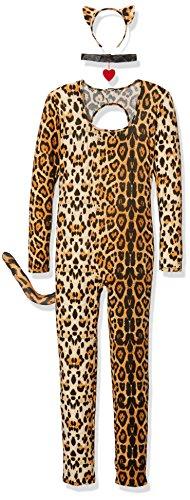Leg Avenue Women's 3 Piece Cougar Catsuit Costume, Leopard, X-Large (Sexy Plus Halloween Costumes)