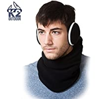 K2 Outdoor Tactical Heavyweight Balaclava and Earmuff Set - Versatile Winter Fleece Protection Perfect for Skiing, Snowboarding, and Motorcycle Riding