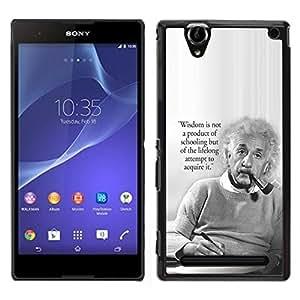 [Neutron-Star] Snap-on Series Teléfono Carcasa Funda Case Caso para Sony Xperia T2 Ultra [Einstein Albert Science Quote Smart Man]