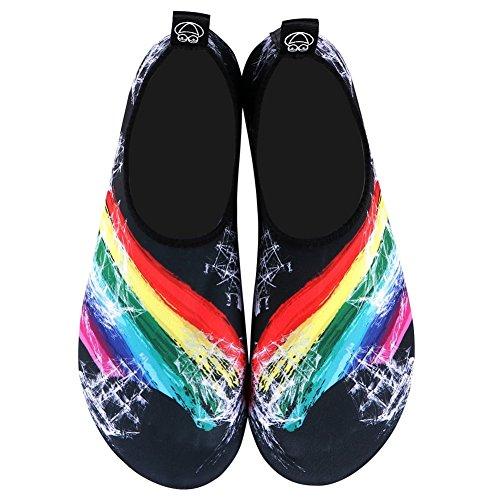 E Snorkeling Suole Barefoot Con Immersione Neopre Surf Casa Yoga Spiaggia Scarpe Uomini Per Corsa Mare Da In Donne Arcobaleno2 Scoglio Spugna Pantofole YOTnwBq