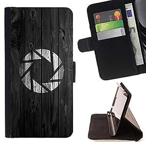 - Portal Aperture Game Gaming - - Prima caja de la PU billetera de cuero con ranuras para tarjetas, efectivo desmontable correa para l Funny HouseFOR Samsung Galaxy S3 III I9300