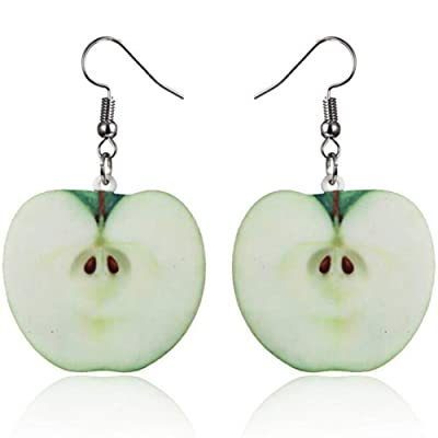 Fruit Style Candy Color Children Cocktail Party School Vacation Birthday Earrings Gift (Apple): Clothing