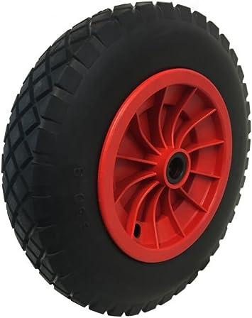 """RED PU 14/"""" Wheelbarrow Wheel Launching Trolley 1//2/"""" BORE Light Foam Heavy Duty"""