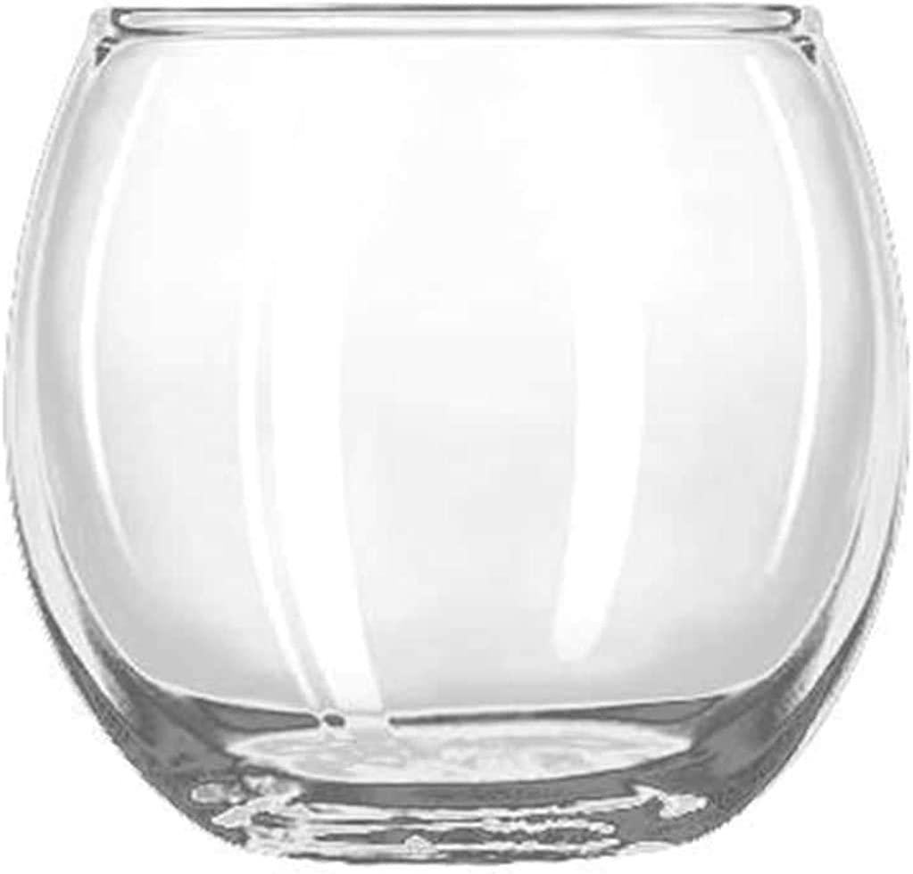 """Crisa by Libby Glass 1780860 2 1/2"""" Clear Glass Roly Poly Votive (Set of 24),"""