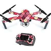 MightySkins Protective Vinyl Skin Decal for DJI Mavic Pro Quadcopter Drone wrap cover sticker skins Pink Scales