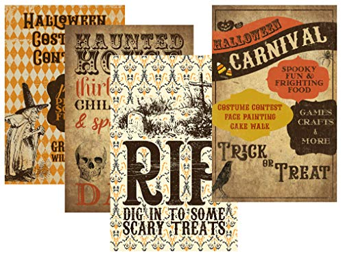 Halloween Carnival Themed Party Supply Supplies Poster Signs Decor Games Crafts Haunted House -