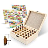 30 Slots Wooden Essential Oil Box Case Essential Organizer, Up To 10mL Storage, Perfect Essential Oil Storage organizer Case For Travel and Presentation (30 Slots Wooden Oil Box)