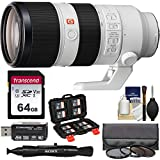 Sony Alpha E-Mount FE 70-200mm f/2.8 GM OSS Zoom Lens with 3 Hoya UV/CPL/ND8 Filters + 64GB Card + Reader Kit