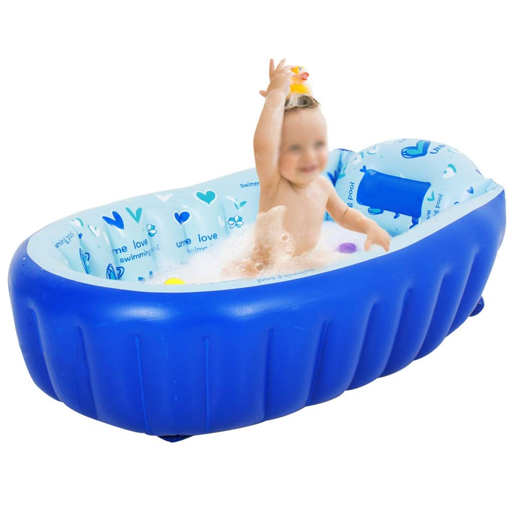 LFYZ Inflatable Baby Bathtub, Toddler Infant Newborn Inflatable Foldable Shower Pool by LFYZ (Image #1)