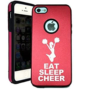 Eat Sleep Cheer iPhone 5 Case - Candy Case iPhone 5S Case - Candy Case - MetalTouch Red Aluminium Shell With Silicone Inner