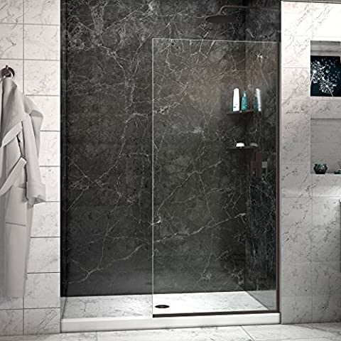 DreamLine Linea 30 in. Width, Frameless Shower Door, 3/8