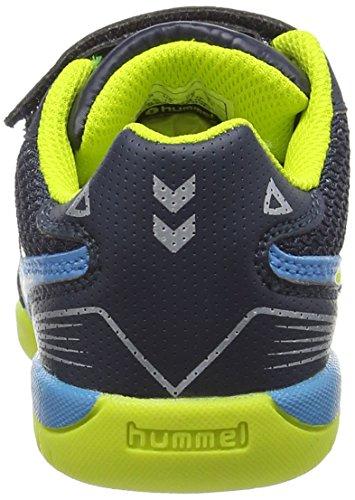 Hummel HUMMEL ROOT VELCRO JR - Zapatillas deportivas para interior de material sintético Niños^Niñas gris - Grau (Graphite / Sulphur Spring 1056)