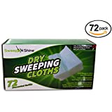 Static Charged Dry Unscented Sweeping Pad Refills - Replacement for Swiffer Dry Refills, 72 Count by SweepNShine