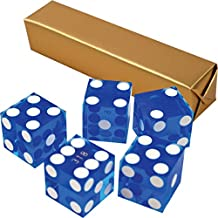 5 Pack Blue 19mm Grade A Precision Dice with Matching Serial numbers