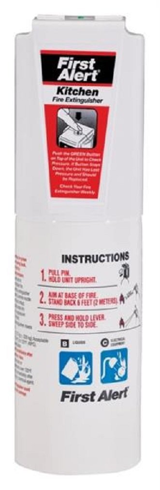 First Alert Kfe2s5a Kitchen Fire Extinguisher, Ul Rated 5-b:c, White