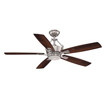 Beautiful Home Decorators Collection Bordere 56 In. Brushed Nickel LED Ceiling Fan