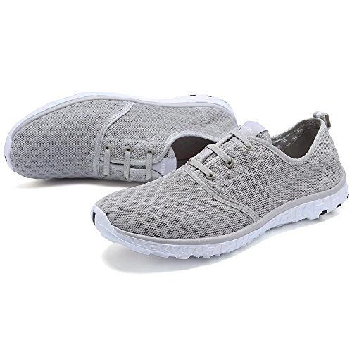 Cior Fantiny Womens Quick Drying Aqua Water Shoes Maglie Slip-on Sportive Atletiche Sportive Per Uomo Grigio