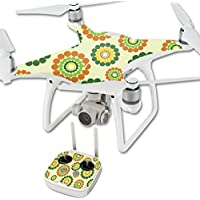 Skin For DJI Phantom 4 Quadcopter Drone – Hippie Flowers | MightySkins Protective, Durable, and Unique Vinyl Decal wrap cover | Easy To Apply, Remove, and Change Styles | Made in the USA
