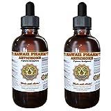 Artichoke Liquid Extract, Organic Artichoke (Cynara scolymus) Tincture Supplement 2x2 oz