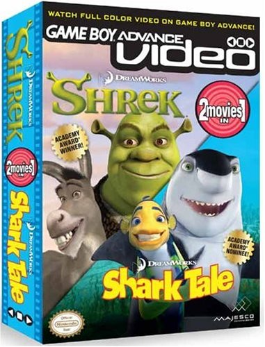 Game Boy Advance Video Shrek Shark Tale Box Shot For Game