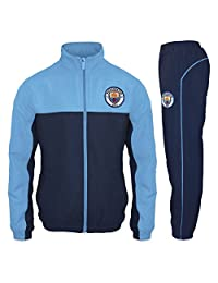 Manchester City FC Official Soccer Gift Mens Jacket & Pants Tracksuit Set XL