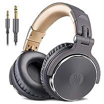 OneOdio DJヘッドホン 密閉型モニターヘッドホン オーバーイヤーヘッドフォン スタジオレコーディング/楽器練習/ミキシング/TV視聴/映画鑑賞/ゲームなどに対応