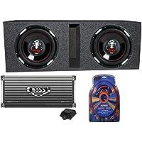 BOSS Audio P106DVC 10 4200 Watt Car Subwoofers+AR4000D+Amp Kit+Vented Sub Box