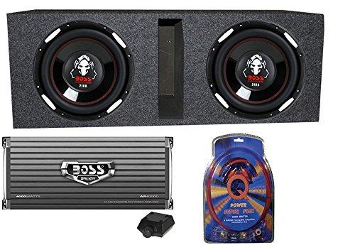 """BOSS Audio P106DVC 10"""" 4200 Watt Car Subwoofers+AR4000D+Amp Kit+Vented Sub Box"""
