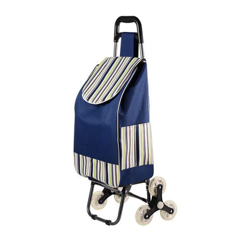 ショッピングカートショッピングトロリーショッピングバッグ三輪車食料品の折り畳み式カート軽量トロリー 登る階段のトロリー B07KJFFQZ8