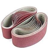 ABRTEN Sanding Belts 3x21 Inch (76x533mm) Aluminum
