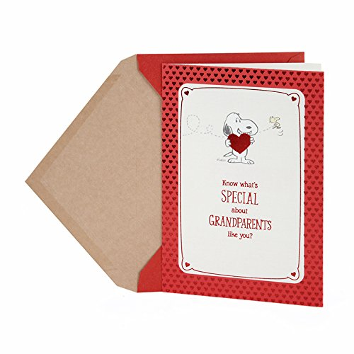Hallmark Valentine's Day Greeting Card for Grandparents (Peanuts Snoopy and Woodstock)