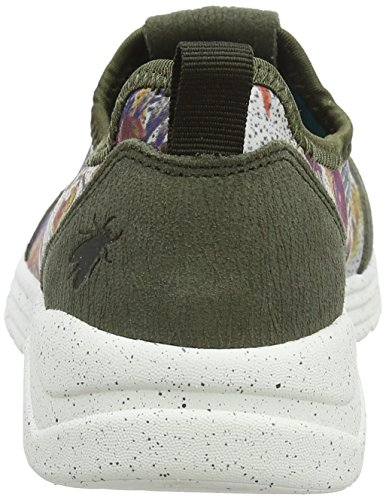 Fly London Womens Sati949fly Fashion Sneaker Taupe / Camoscio Floreale / Stampa